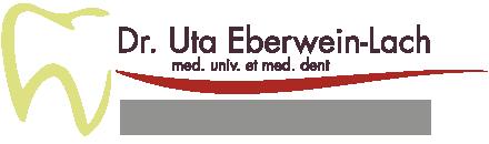 logo, Dr. Uta Eberwein-Lach, Fachärztin für Zahn-, Mund- und Kieferheilkunde, Implantate, Zahnregulierungen und Prophylaxe